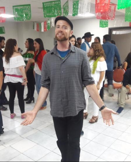 Young adult group celebrating Dia de la Independencia at Iglesia La Roca. Zona Rio, Tijuana