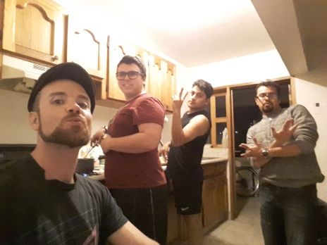 Some QT with roommates in the kitchen. Zona Rio, Tijuana