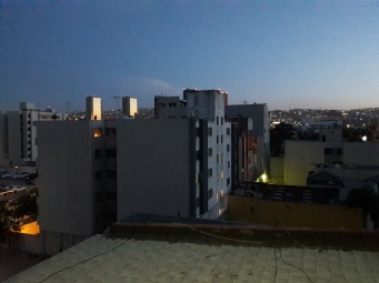 Dusk view from Zona Rio apartment