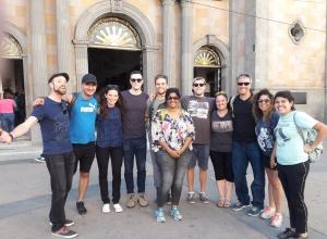 Tijuana Walking Tour with our fearless leader, Martha. Plaza Bicentenario, Downtown Tijuana