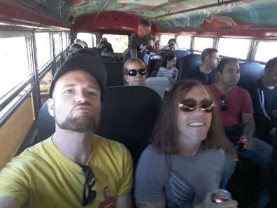 On board the gringo tour bus with Turista Libre