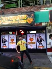 I happened to have been wearing a Chapulin Colorado shirt while coming across this Chapulin Colorado-themed karaoke bar. Centro, Tijuana