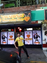 I happened to have been wearing a Chapulin Colorado shirt while coming across this Chapulin Colorado-themed karaoke bar. Centro, Tijuana
