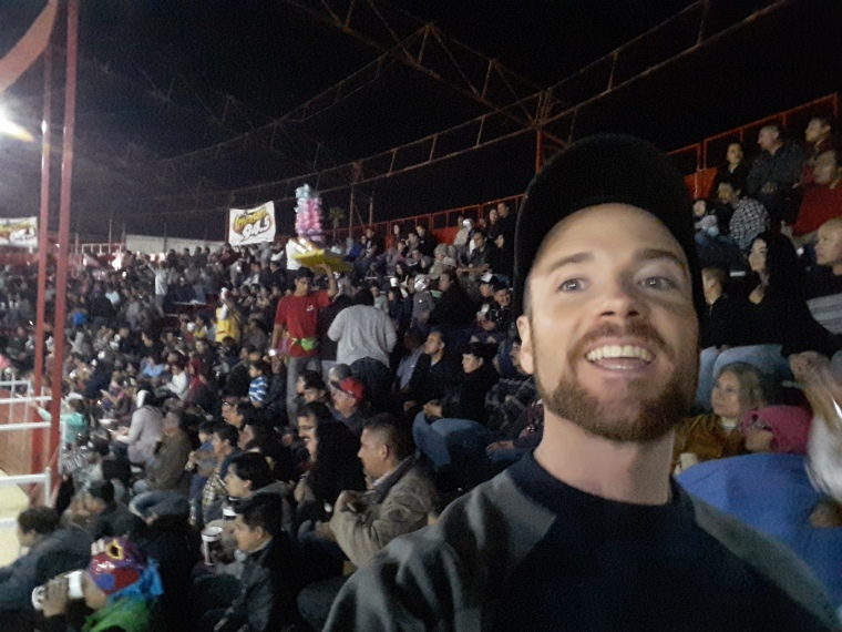 Ring side with Turista Libre at a lucha libre match. El Hipodromo, Tijuana