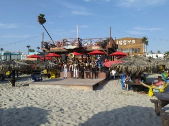 Mariachi show on Rosarito beach