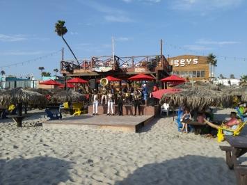 Mariachi show on Rosarito beach