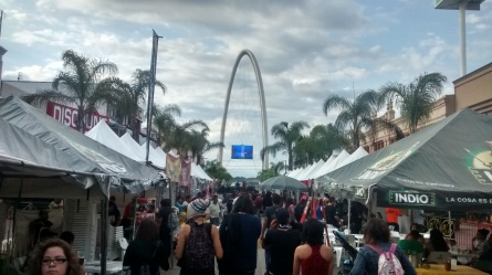 A festival on Avenida Revolución. Monumento Reloj in the background. Centro, Tijuana