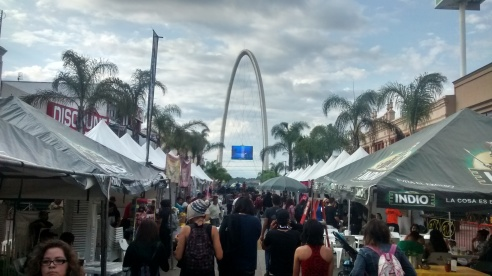A festival on Avenida Revolución. Monumento Reloj in the background. Centro, Tijuana