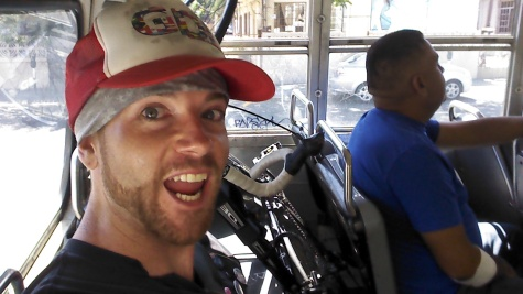 After some coercion (pleading), the public bus driver let my bike aboard from Centro to Playas de Tijuana. T'was my lucky day