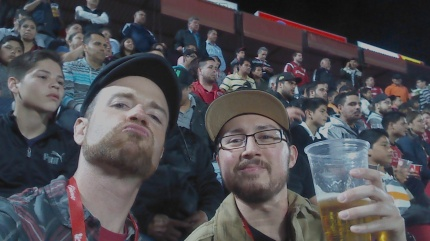 Enjoying the Xolos soccer game. El Hipodromo, Tijuana