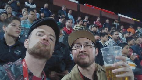 Enjoying the Xolos soccer game. El Hipodromo, Tijuana