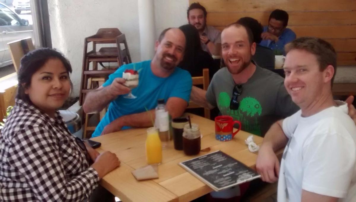 Brunch with friends at Alma Verde. Colonia La Cacho, Tijuana