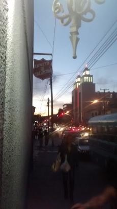 The Ejército de Salvación at dusk. La Libertad, Tijuana