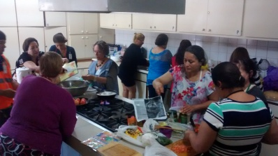 Vegetarian cooking class at Centro de Formación Integral LeSalle. Downtown Tijuana